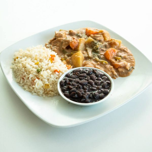 45. Recaudo de epazote con arroz y frijoles, Obento Casero